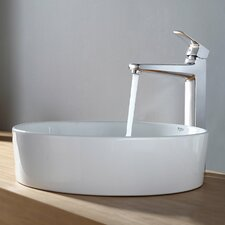 Round Sink and Virtus Faucet