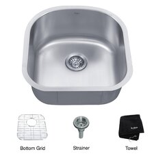 "19.63"" x 20.5"" 4 Piece Undermount Single Bowl Kitchen Sink"