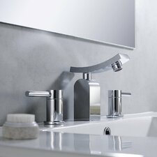 Bathroom Combos Widespread Waterfall Unicus Faucet with Double Handles