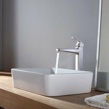 Rectangular Sink and Virtus Faucet
