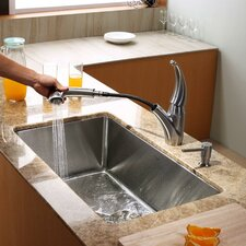 "30"" x 18"" Undermount Kitchen Sink with Faucet"