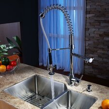 "<strong>Kraus</strong> 32"" x 20"" Undermount Kitchen Sink with Faucet and Soap Dispenser"