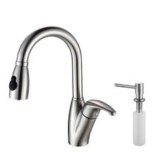 Single Handle Single Hole Kitchen Faucet with Soap Dispenser