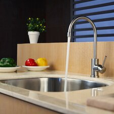 """23.25"""" x 20.9"""" Undermount Single Bowl Kitchen Sink with Faucet and Soap Dispenser"""