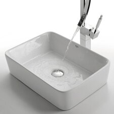 <strong>Kraus</strong> Ceramic Rectangular Vessel Bathroom Sink