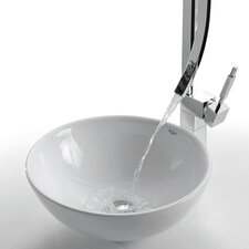 Ceramic Round Vessel Bathroom Sink