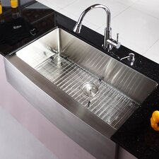 "35.9"" x 20.75"" Farmhouse Kitchen Sink"