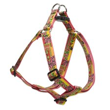 "Flower Patch 1"" Adjustable Large Dog Step-In Harness"