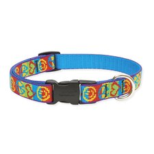 "Peace Pup 3/4"" Adjustable Medium Dog Collar"