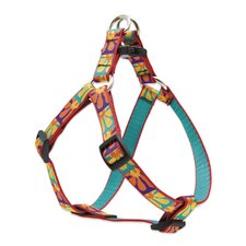 "Crazy Daisy 3/4"" Adjustable Medium Dog Step-In Harness"