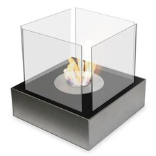 Square Stainless Steel Side Decorative Fire