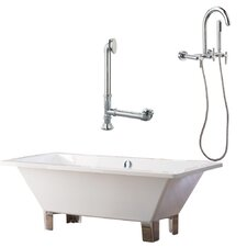 "Tella 66"" x 30"" Contemporary Bathtub"