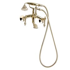 Traditional Wall Mount Tub Faucet with Metal Lever Handles
