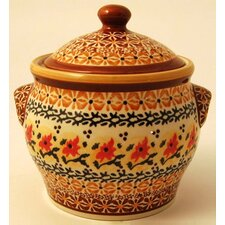 <strong>Euroquest Imports Polish Pottery</strong> Pattern DU70 Decorative Jar