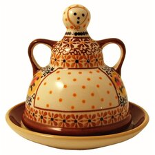 <strong>Euroquest Imports Polish Pottery</strong> Butter Lady Covered Butter Dish