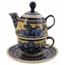 Pattern DU8 0.31-qt. Tea for One Teapot & Saucer
