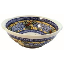 "10"" Berry Bowl / Strainer - Pattern DU8"