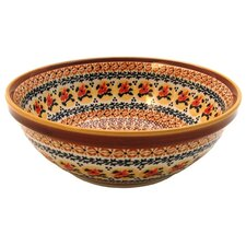 "<strong>Euroquest Imports Polish Pottery</strong> 9.5"" Serving Bowl"