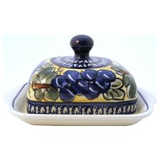 <strong>Euroquest Imports Polish Pottery</strong> Conventional Covered Butter Dish