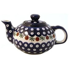 <strong>Euroquest Imports Polish Pottery</strong> 14 oz Teapot - Pattern 41A