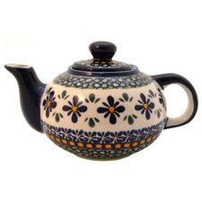 <strong>Euroquest Imports Polish Pottery</strong> 14 oz Teapot - Pattern DU60