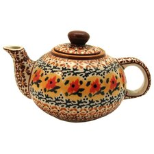 <strong>Euroquest Imports Polish Pottery</strong> 14 oz Teapot - Pattern DU70