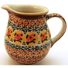 <strong>Euroquest Imports Polish Pottery</strong> 14 oz Pitcher - Pattern DU70