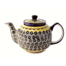 <strong>Euroquest Imports Polish Pottery</strong> 37 oz Teapot - Pattern DU1
