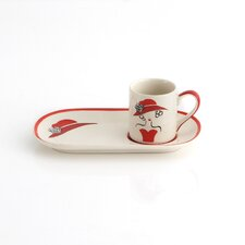 <strong>Woodard & Charles</strong> Espresso Cup and Biscotti Dish (Set of 4)