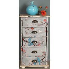 Love Birds Painted Chest of Draws