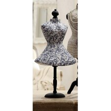 Decoupage Paper Mache Mannequin Jewelry Holder