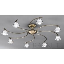 Twista 8 Light Semi Flush Light