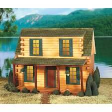 <strong>Real Good Toys</strong> Adirondack Log Cabin Dollhouse