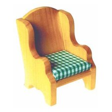 Solid Pine Wing Chair Doll Furniture