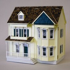 Half Scale Front-Opening Victorian Shell Dollhouse Kit