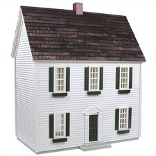 Finished & Ready to Play Doll House 0.5 Scale Colonial