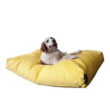 Yellow Spots Woof Pet Bed