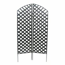 "72"" x 36"" Interlocking Screen 2 Panel Room Divider"