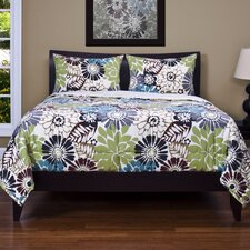 Blooming Bulb Harvest 3 Piece Quilt Set Collection