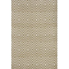 Diamond Rug in Khaki / White