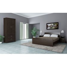 Coastal 4 Piece Deluxe Suite Bedroom in Walnut