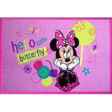 Licensed Pink Disney Minnie Mouse Kids Rug