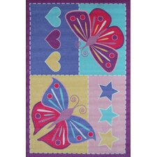 Girls Butterfly Patch Rug