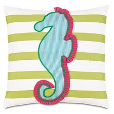 Alexis Seahorse Applique Accent Pillow