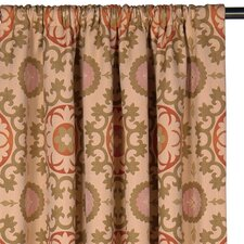Bukhara Drapery Rod Pocket Curtain Single Panel