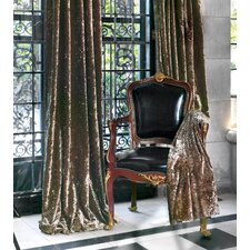 Foscari Cotton Rod Pocket Glamour Curtain Single Panel
