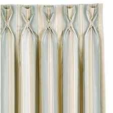 Evora Stripe Cotton Rod Pocket Curtain Single Panel