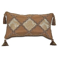 Foscari Diamond Inserts Pillow with Tassels
