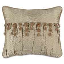 Marbella Sorel Alloy Pillow with Lace Trim
