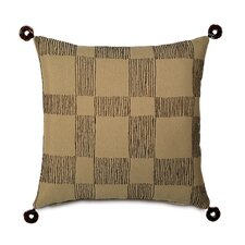 Shamwari Polyester Decorative Pillow with Resin Rings